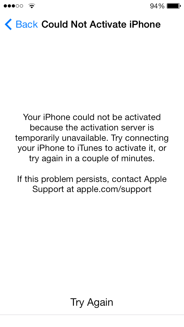 could not activate iphone - iphone unlocking